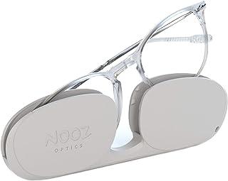 Nooz Optics - Occhiali da lettura - Essential Alba - Forma Ovale - Montatura ultraleggera in nylon - Custodia ultra compat...
