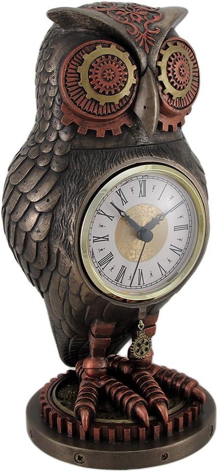 Veronese Resin Mantel Clocks Bronze Copper Finish Owl Max 60% OFF Tucson Mall Steampunk