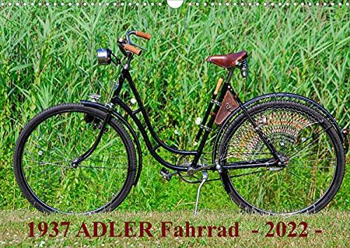 1937 ADLER Fahrrad (Wandkalender 2022 DIN A3 quer)