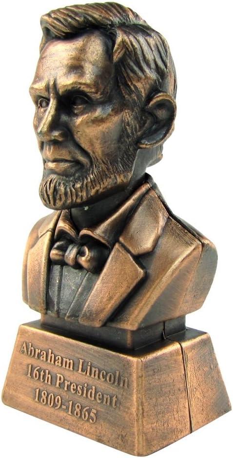 Treasure Gurus Bronze Metal Abe Great Max 74% OFF interest Statue Pencil Lincoln Sharpener