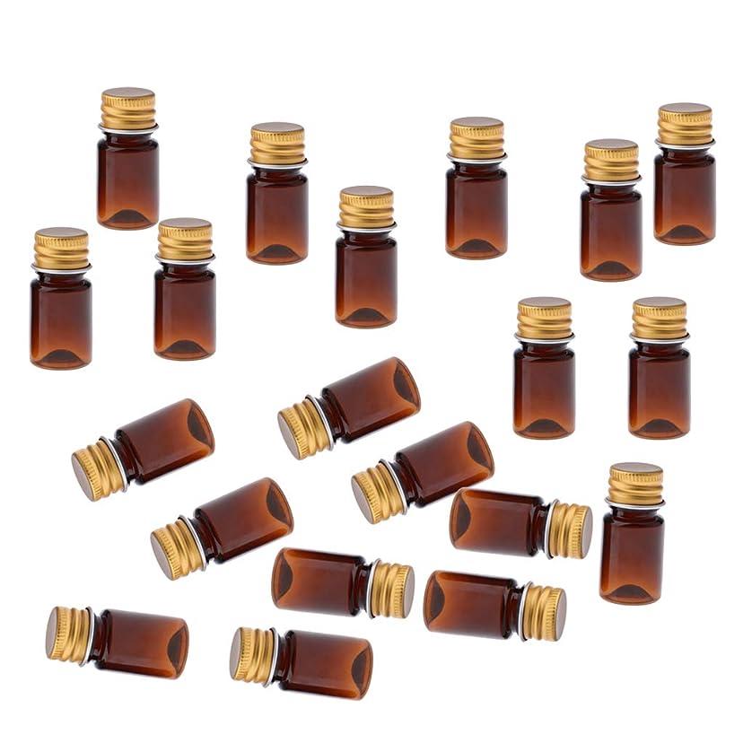 ジャンクしなやか好意的F Fityle 約20個 化粧ボトル プラスチックボトル 5ミリリットル 6色選べ - #2