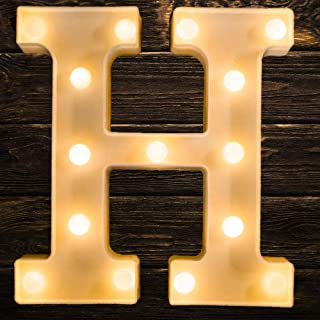 Oycbuzo LED Letter Lights Sign 26 Alphabet,Light Up Letters Sign for Night Light Wedding Birthday Anniversary Party Battery Powered Christmas Lamp Home Bar Decoration—Warm White