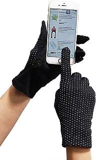 Womens Sunscreen Gloves UV Sun Lightweight Cotton Touch Screen Driving Gloves