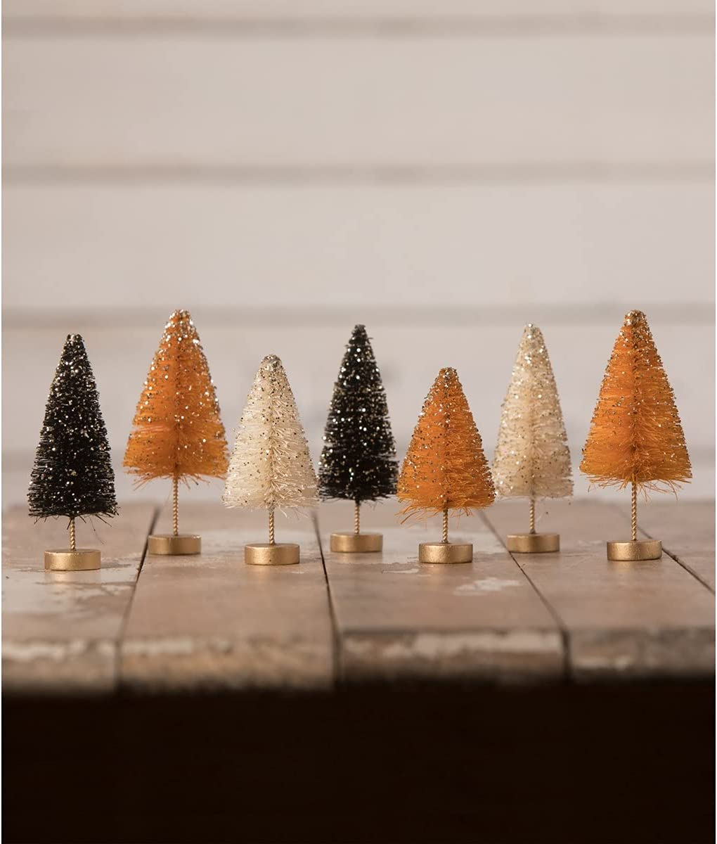 Bethany Lowe Designs LC0717 Mini Now on sale wi Trees Brush Bottle Halloween Las Vegas Mall