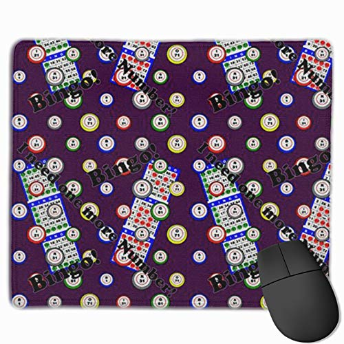 Mouse Pad Anti-Slip Mousepad Bingo I Need One More Numbe Gaming Mouse Mat Pads with Stitched Edge Cute Funny Personalized Novel for Working Game Office Study PC Computers