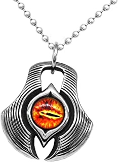MagiDeal Cool Punk Rock Stainless Steel Eye Pendant Chain Necklace for Men, Personalized Decorative Jewelry (50cm Chain Length)