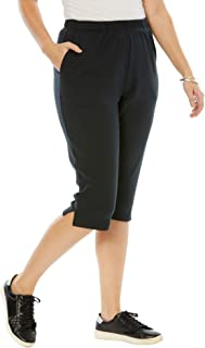 Women's Plus Size Soft Knit Capri Pant