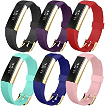 UMTELE for Fitbit Alta Band, Soft Replacement Wristband with Metal Buckle Clasp for Fitbit Alta Smart Fitness Tracker - 6pack