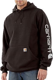 Carhartt Men's Signature Sleeve Logo Hooded Sweatshirt...