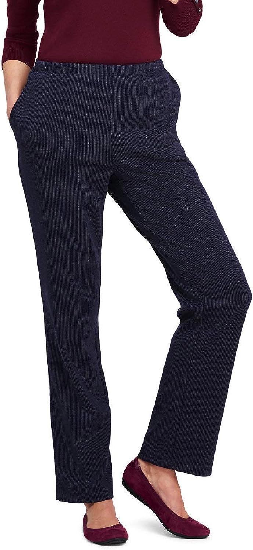 Lands' End Women's High Rise Sport Knit Pants  Jacquard