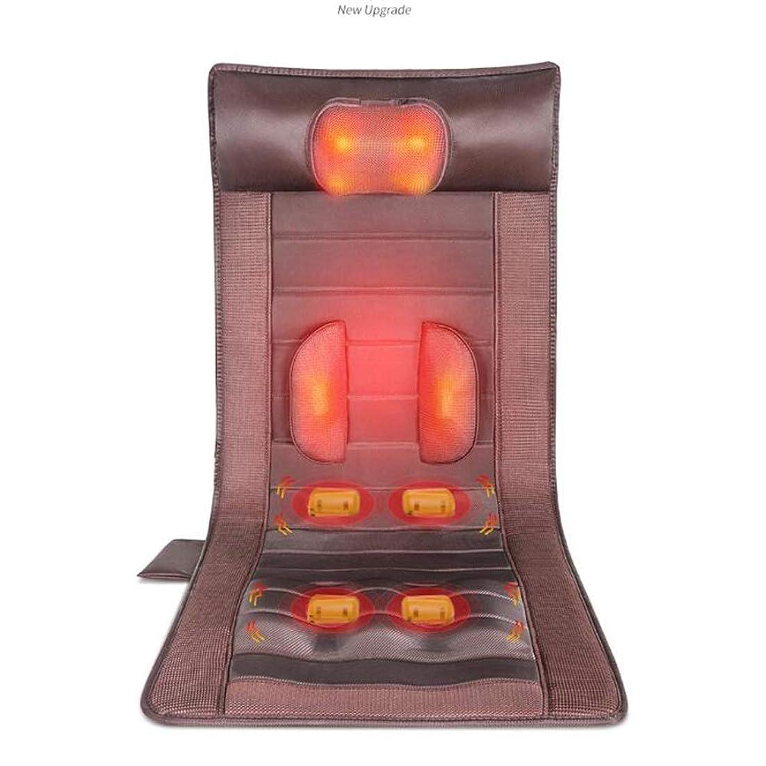 外交消える衝突JIAYUAN マッサージクッション マッサージマット熱、セラピー暖房パッド、15振動モーターマッサージマットレスパッド、全身マッサージクッション和らげる首、背中、腰、脚の痛み