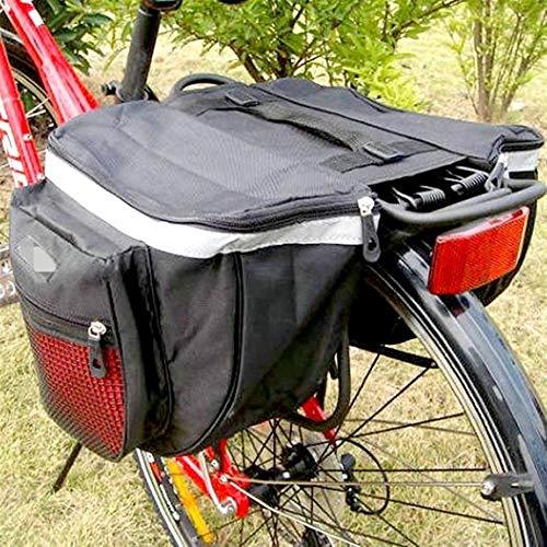 Bolsa de cuadro de bicicleta Impermeable camino de la montaña de la bicicleta rack respaldo del asiento trasero trasera de vehículo tronco doble bolsa Volver cubierta de la lluvia para MTB al aire lib
