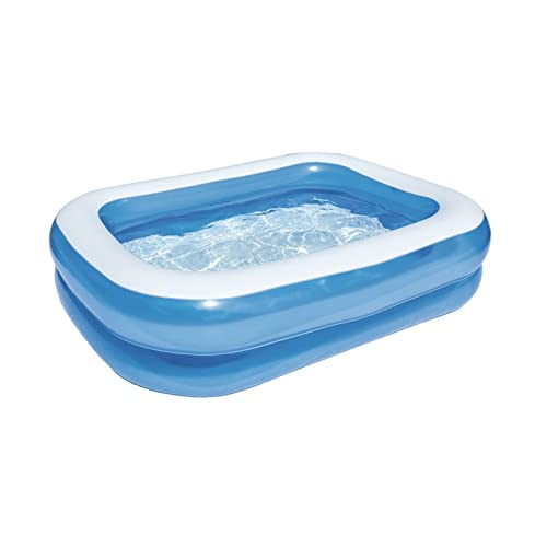 Bestway 54005 - Piscina familiar rectangular, color azul, 201 x 150 x 51 cm
