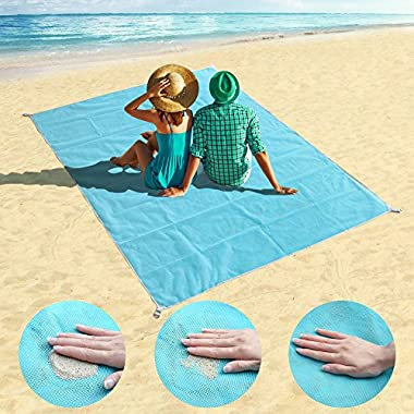 HAITRAL Beach Blanket Sand Free Beach Mat Blanket(Size: 79  57 ) Waterproof Sandproof, Easy To Clean, Fast Dry, For Camping And Outdoor