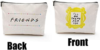 Friends Forever [25th Anniversary Ed] Friends TV Show Merchandise Peephole Yellow Frame Cosmetic Bag for Friends Fans