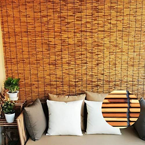 ZXLL Persiana Bambu Exterior,Estor Bambu,Tamaño Personalizable,Persiana Enrollable De Bambú Natural,Persianas De Bambú,Ancho 70 • 100 • 130cm,Decoración del Hogar,Persianas De Caña