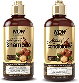 WOW Moroccan Argan Oil Shampoo and Conditioner Set, Increase Moisturization, Hydration For Dry, Damaged Hair Repair, No SL...