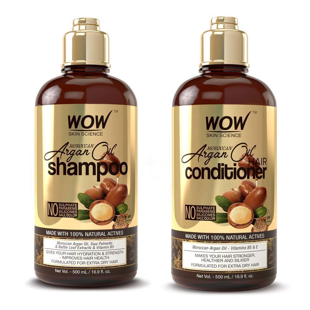 WOW New color Moroccan Argan Oil Shampoo and Set Mail order Conditioner Increase Moi
