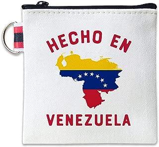 Hecho En Venezuela Canvas Coin Purse Cash Bag Small Zipper Purse Wallets Mini Money Bag Change Pouch Key Holder Double Sides Printing
