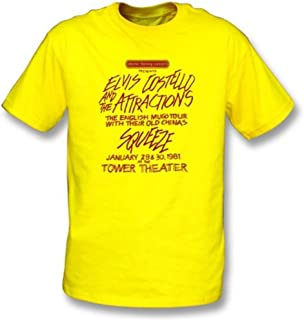 Elvis Costello Squeeze T-Shirt, Color Yellow