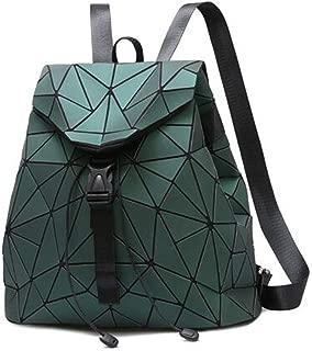 FTSUCQ Womens Geometry Portable Daypack Satchels Shoulder Handbags Casual Hobos Satchels School Bag Backpack