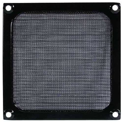 Cooltek Schutzgitter für Lüfter mit Filtereinsatz 140 mm, Aluminium, schwarz