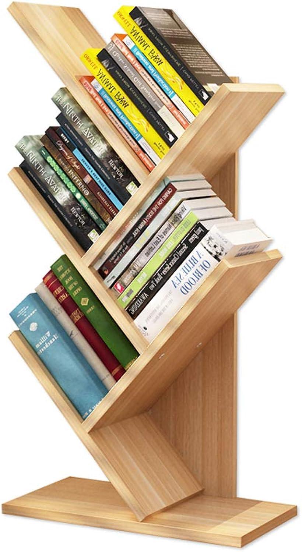 Tree-Shaped Bookshelf On The Table, Simple Student Shelf Bookcase Storage Shelf