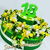 Torta BOMBONIERE 18 Anni Porta Confetti scatoline con gessetto diciottesimo (Torta da 32 plexiglass)