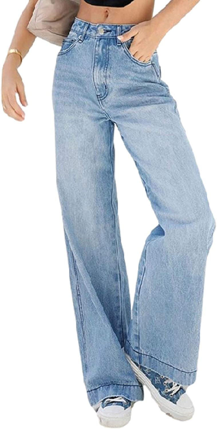 Baggy Ripped Jeans for Women High Waisted Loose Denim Cargo Pants Wide Leg Distressed Y2k Trendy Jeans