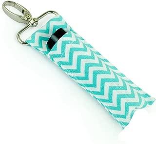 Women Lipstick Bag Lip Balm Holder Chapstick Key Chain Water Green