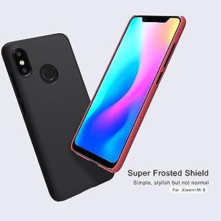 Nillkin Xiaomi Mi 8 Mobile Cover Super Frosted Hard Shield Phone Case - Black