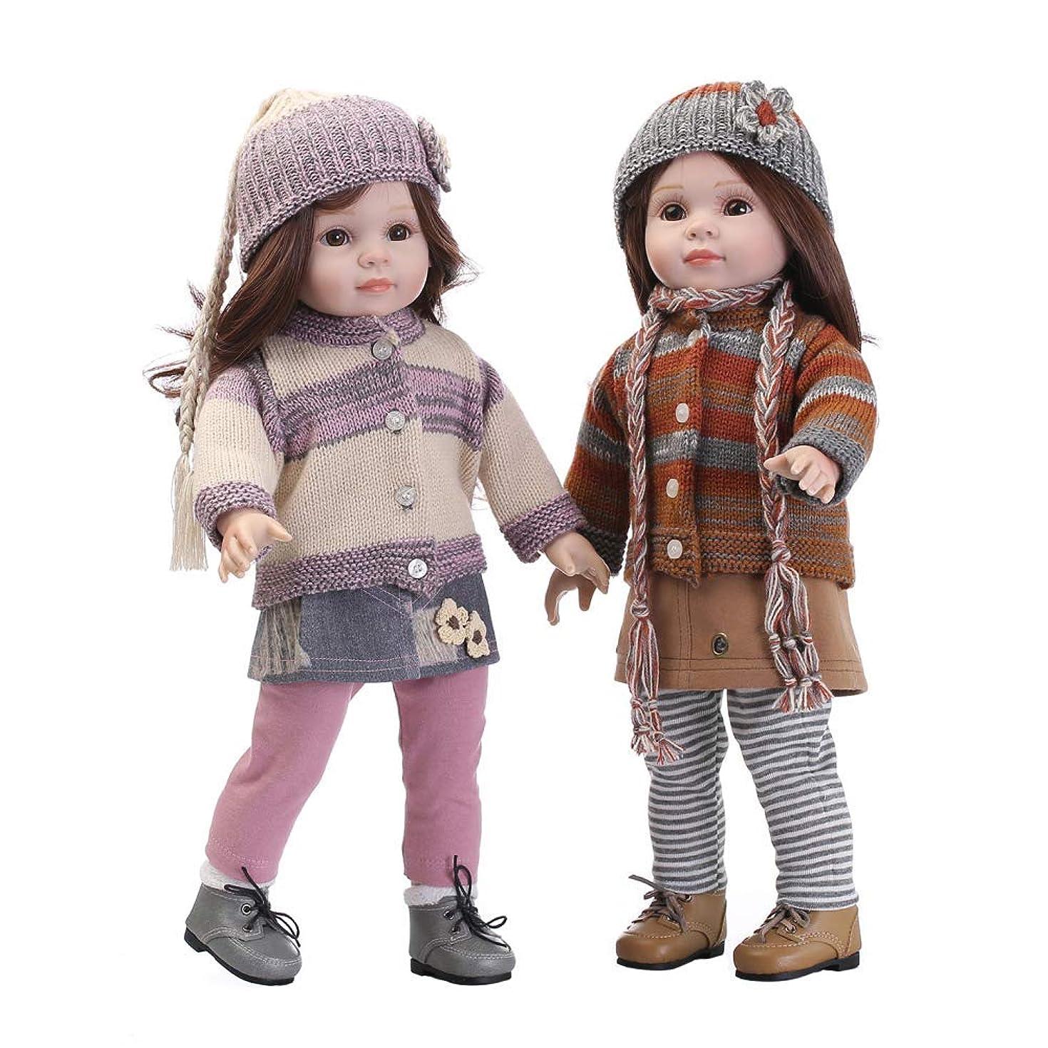 共感する厳密に不愉快Reborn Baby Dolls Reborn Baby Dolls Country Girl 18 Inch 45cm Full Body Silicone Silicone-Gift Hand Made Child Safe Non To...