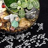 Blulu 2000 Stück 6 mm Plexiglas Diamant Streuung Diamantkristalle Dekosteine Hochzeit Crystal Tisch Confetti Tischschmuck Tischdeko - 4