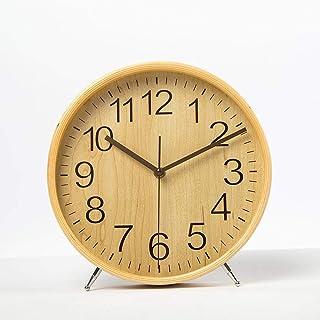 Axiba Relojes de Chimenea Salón Reloj Escritorio Reloj Simple Madera Dormitorio Mudo Reloj de péndulo (22 * 23 * 4.5 cm) Decoración casera