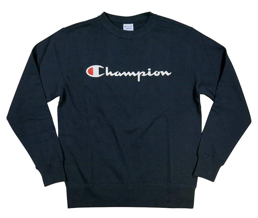 発生器カバーアンティーク(チャンピオン)Champion トリコロールタグ ロゴプリント 裏毛 スウェットシャツ L NAVY(ネイビー)(ラバープリント)