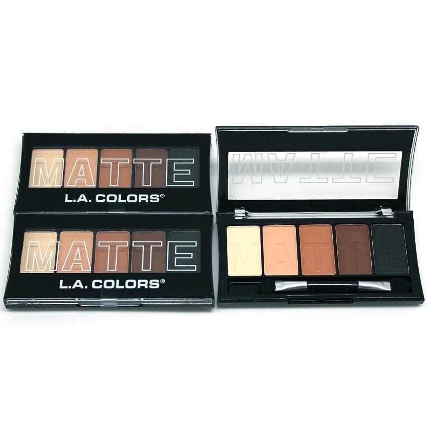 行き当たりばったり捕虜重さ(3 Pack) L.A. Colors Matte Eyeshadow - Brown Tweed (並行輸入品)