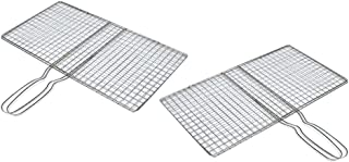 Perfk 2 X Stainless Steel BBQ Net Vegetables
