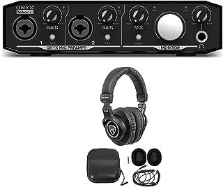 Mackie Onyx Producer 2.2 2x2 USB MIDI Recording Studio Interface + Headphones