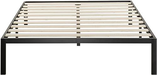 Zinus Modern Studio 14 Inch Platform 1000 Metal Bed Frame / Mattress Foundation / no Boxspring needed / Wooden Slat Support / Good Design Award Winner, Queen