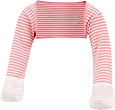 ScratchSleeves | Baby Girls' Stay-On Scratch Mitts Stripes