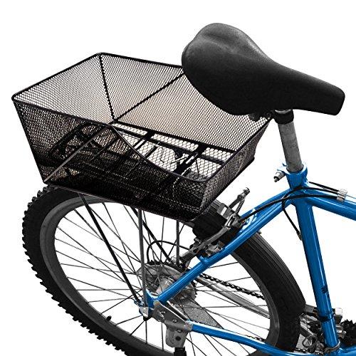Oramics Stabiler Fahrradkorb Gepäckträgerkorb Schultaschenkorb - 42 x 29 x 20 cm Inkl Befestigungsmaterial auf Aluminium nur 1200 g Einkaufskorb