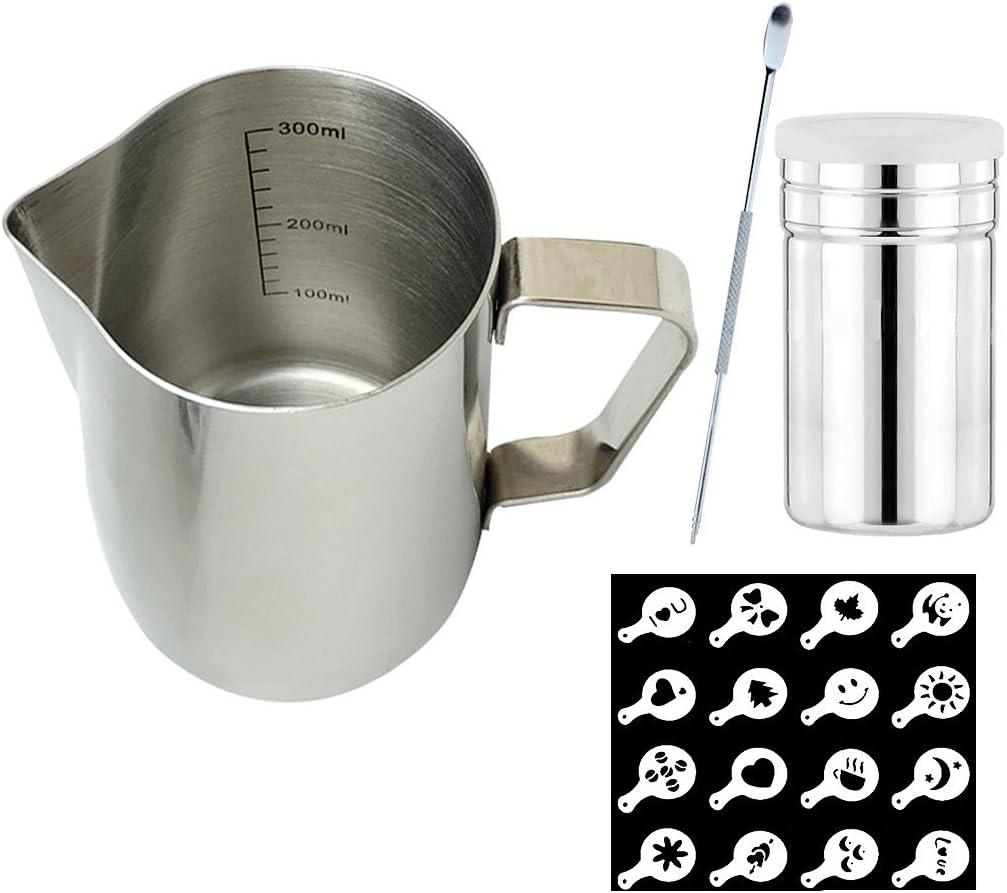 SIPLIV Coffee Art Tool Kit 12 Oz(350 ml) Stainless Steel Espress