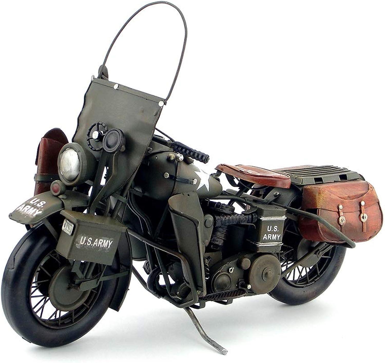 modellolo di Moto in Ferro Battuto modellolo retrò Auto Accessori Regalo verde JSSFQK