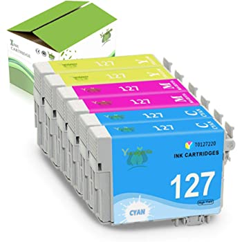 4 Black,2 Cyan,2 Magenta,2 Yellow 10 Pack Tracyink Remanufactured Ink Cartridge Replacement for Epson 126 T126 Used for Workforce 435 520 545 635 645 WF-3520 WF-3530 WF-3540 WF-7010 WF-7510 Printer