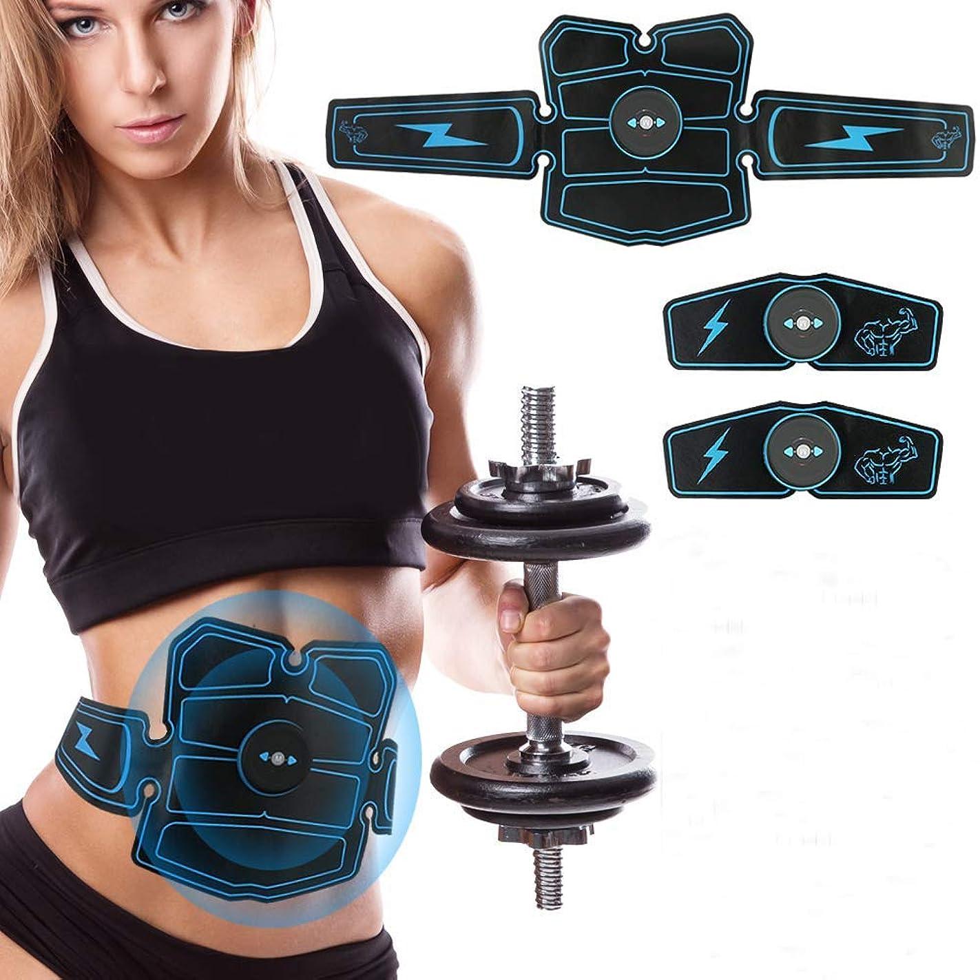 没頭する未接続リスEMSフィットネストレーナー、筋肉刺激腹部トナーベルトトレーニング脂肪燃焼フィットネス脚ボディトレーニングUSB充電式ジェルパッド家庭用パルサー男性と女性に適した