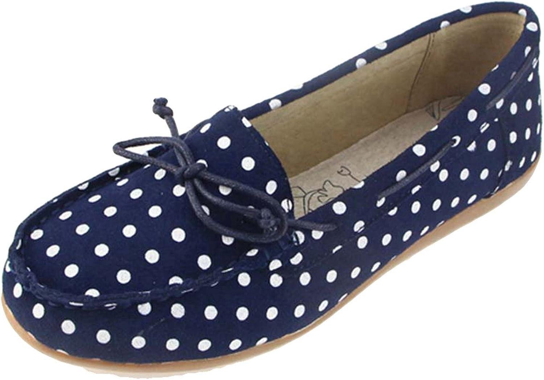 York Zhu Women Loafers shoes, Basic Slip on Wave Point Flats, Female Moccasins shoes