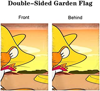 DISNEY COLLECTION Garden Flag 12x18 Inch Disney Cartoon Funny Speedy Gonzales Double Sided Holidays Home Coffee Decor