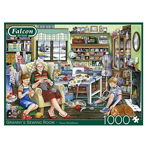 Jumbo 11273 Piece Jigsaw Falcon de Luxe – Granny's Sewing Room Puzzle, 1000 Teile