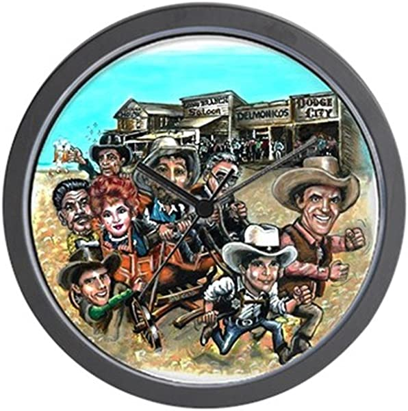 CafePress Official Gunsmoke 55th Anniversary Wall Clock Unique Decorative 10 Wall Clock