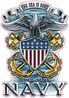 Nostalgia Decals United States Navy The Sea is Ours Decal Version 1 which is 5